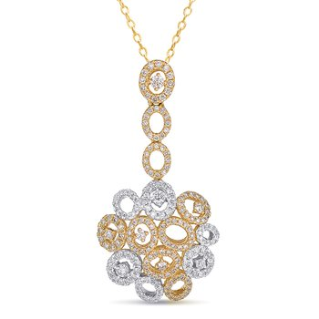 White & Yellow Gold Diamond Pendant