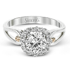 Simon G MR2968 ENGAGEMENT RING