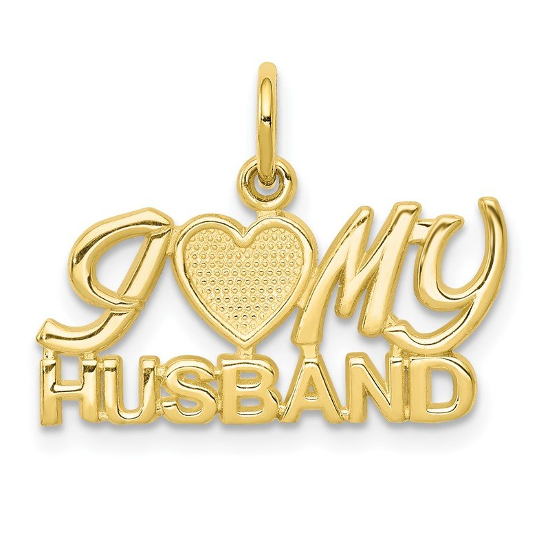 Quality Gold 10K I LOVE My HUSBAND Charm