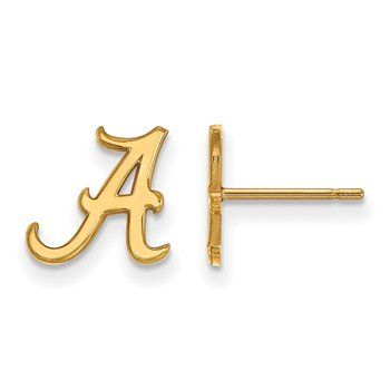 Gold University of Alabama NCAA Earrings