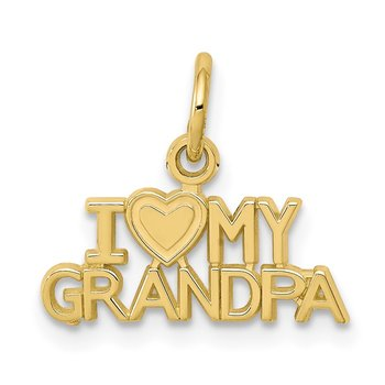 10K I LOVE MY GRANDPA Charm
