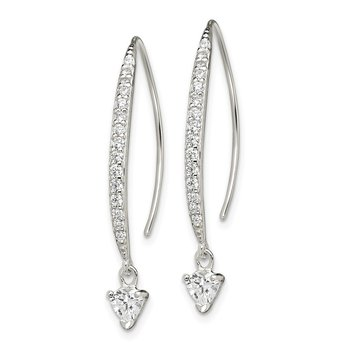Sterling Silver CZ Threader Earrings