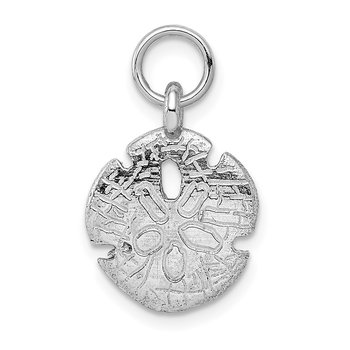 14k White Gold Polished Sand Dollar Charm