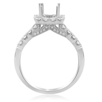 Square Halo Diamond Engagement Setting