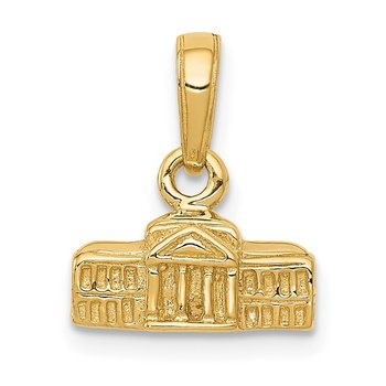 14k 3D White House Pendant