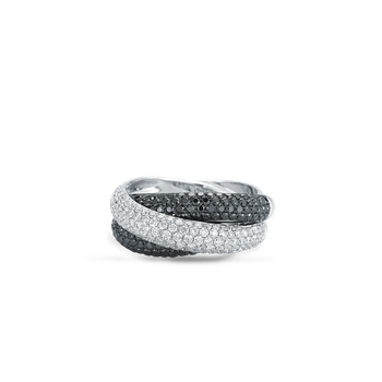 Cross Over Ring With Diamonds