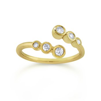 14K Diamond Bubble Ring
