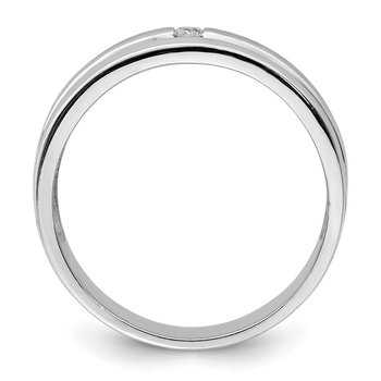 Sterling Silver Rhodium Diam. Band