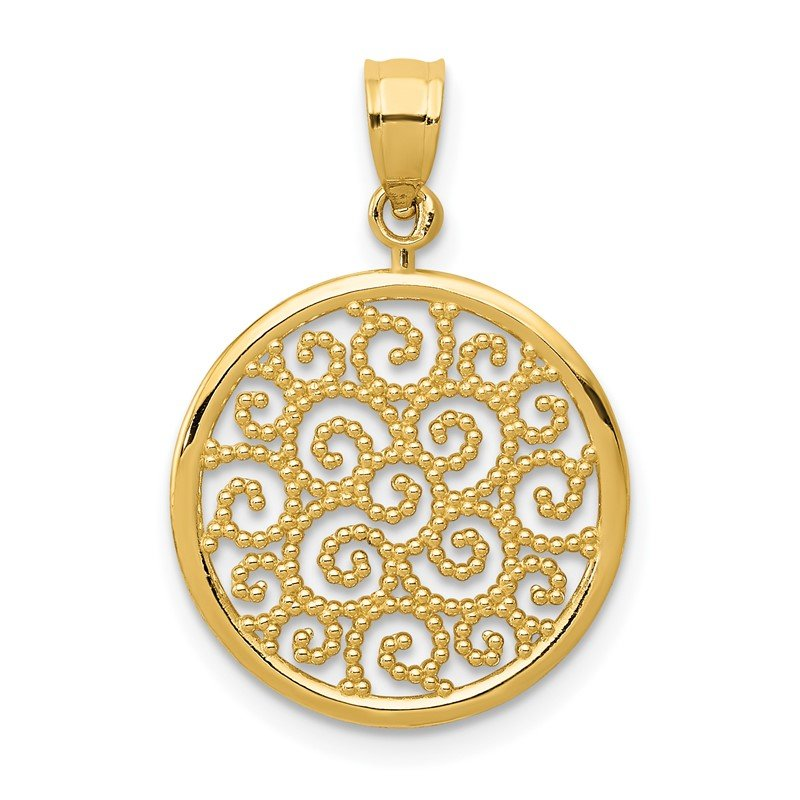JC Sipe Essentials 14k Filigree Round Pendant