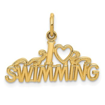 14K I HEART SWIMMING Charm