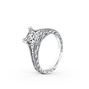 Channel Set Baguette Princess Diamond Engagement Ring