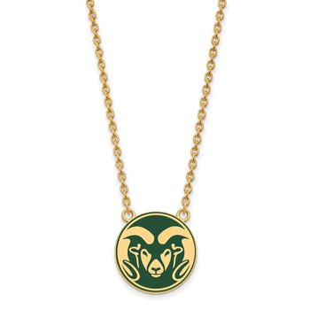 Gold-Plated Sterling Silver Colorado State University NCAA Necklace