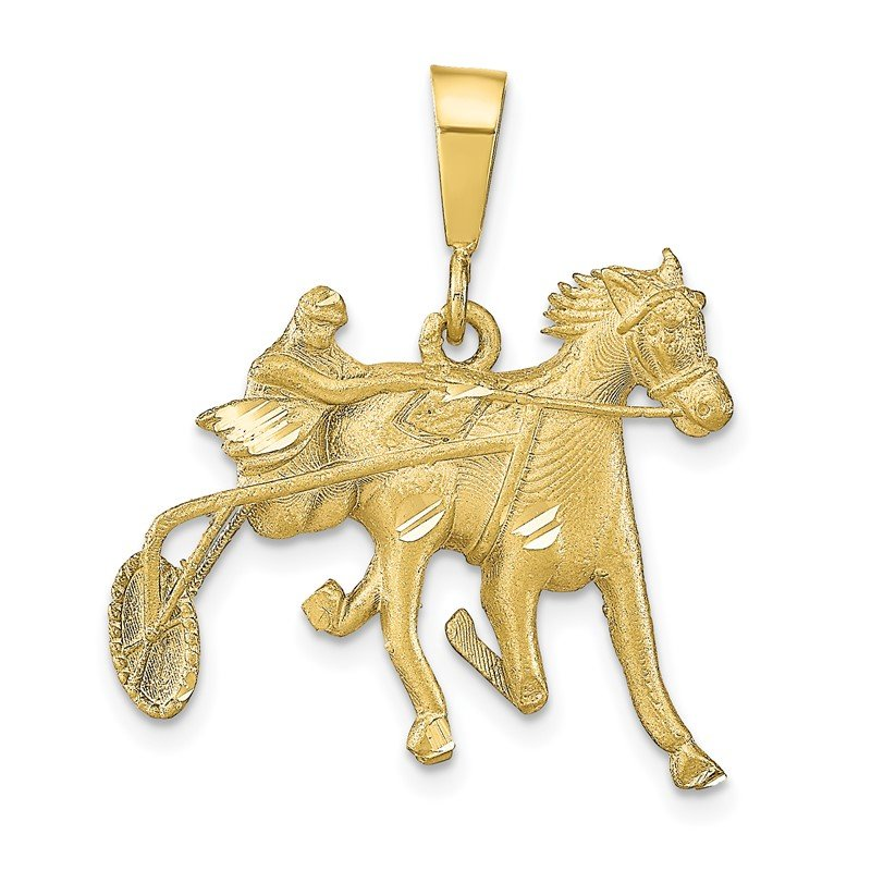 Quality Gold 10K Horse Racing Charm