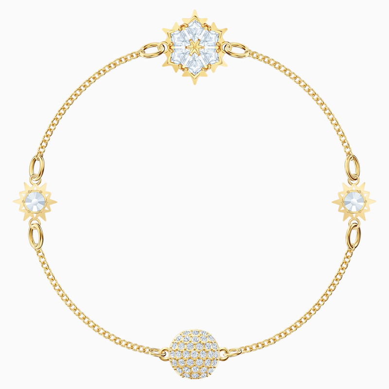 Swarovski Swarovski Remix Collection Snowflake Strand, White, Gold-tone plated