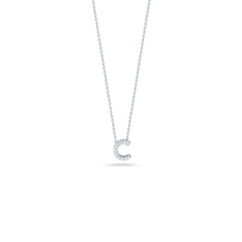 Love Letter C Pendant With Diamonds