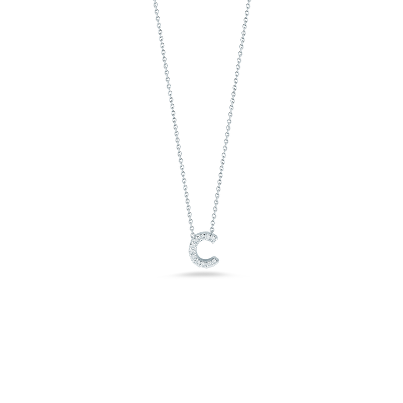 Roberto Coin Love Letter C Pendant With Diamonds