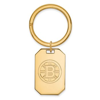 Gold-Plated Sterling Silver Boston Bruins NHL Key Chain