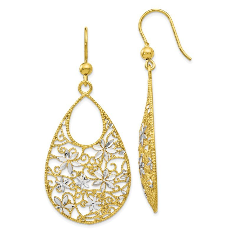 Leslie's Leslie's Sterling Silver Gold-tone 18K Flash-plated D/C Earrings