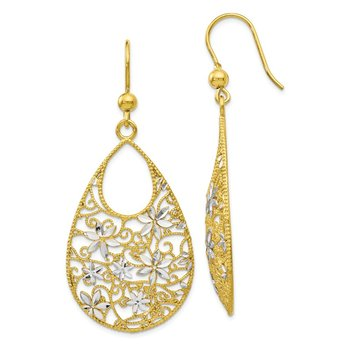 Leslie's Sterling Silver Gold-tone 18k Flash Plated D/C Earrings