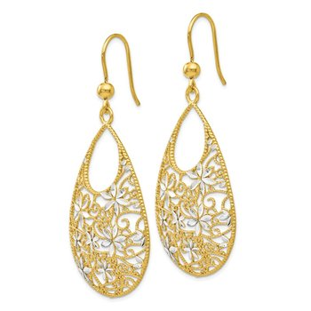 Leslie's Sterling Silver Gold-tone 18K Flash-plated D/C Earrings