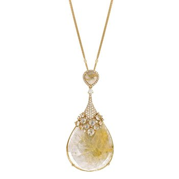 Angel Hair Rutilated Quartz Necklace