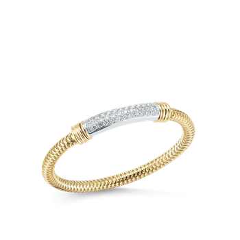 18Kt Gold Flexible Bangle With Diamond Bar