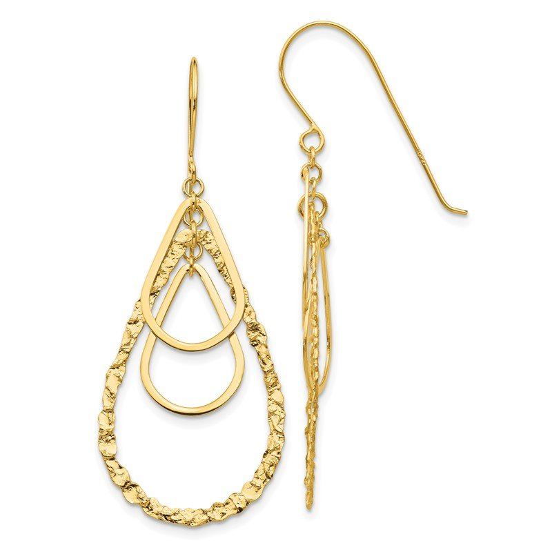 Quality Gold 14K Tear Drop Earrings