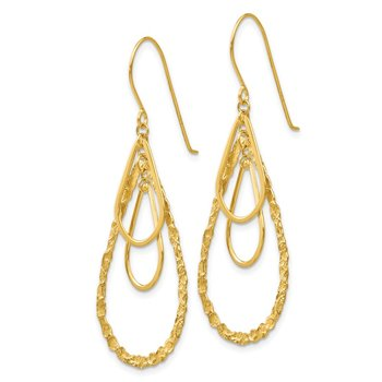 14K Tear Drop Earrings
