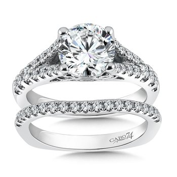 Split Shank Engagement Ring in 14k White Gold (2ct. tw.)