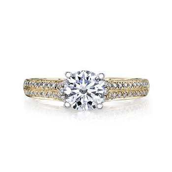 MARS 25868 Diamond Engagement Ring 0.31 Ctw.