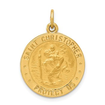 14k US Army Saint Christopher Medal Pendant