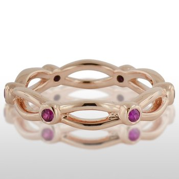 Ladies' Pink Gold Ruby Ring