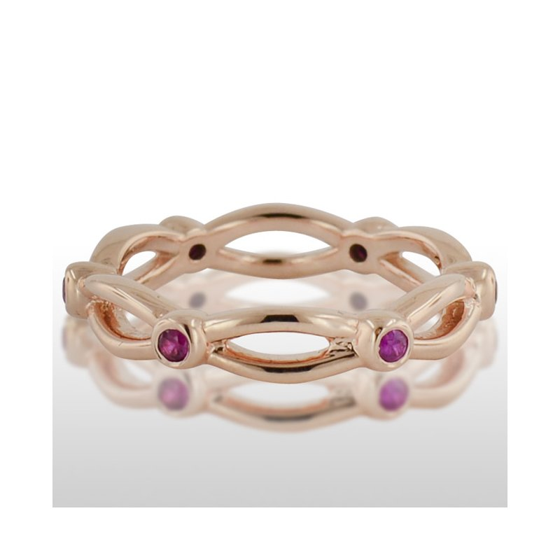 Novell Ladies' Pink Gold Ruby Ring