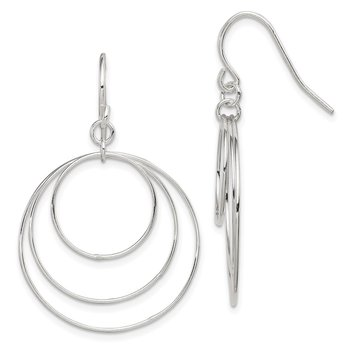 Sterling Silver Fancy Circle Earrings