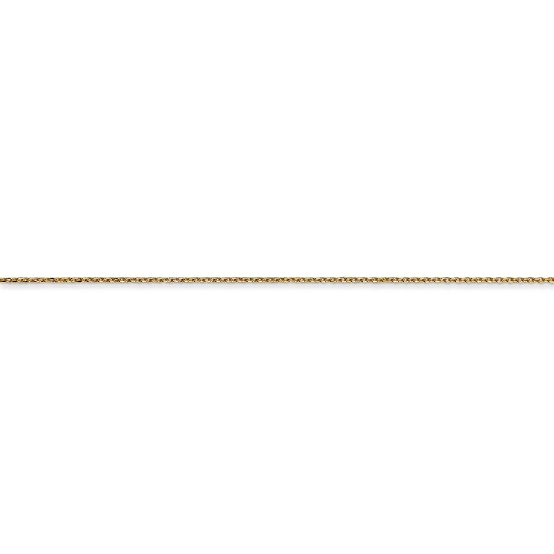 Quality Gold 14k .6mm D/C Round Open Link Cable Chain