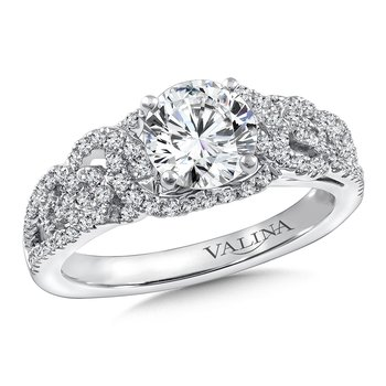 Diamond Engagement Ring Mounting in 14K White Gold (.40 ct. tw.)