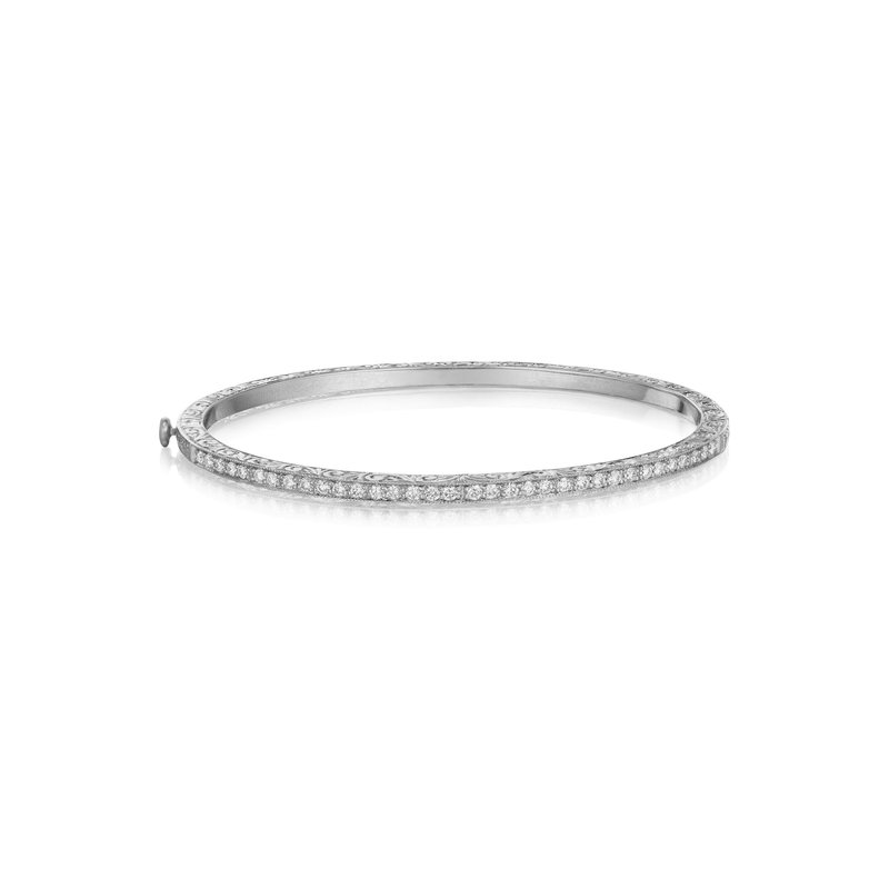 Penny Preville Thin Engraved Bangle