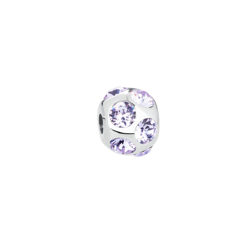 Brosway 316L stainless steel and violet Swarovski® Elements crystals.