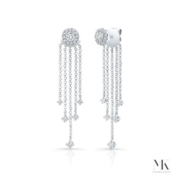 White Gold Forevermark Diamond Fringe Ear Jacket