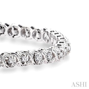 x & o shape diamond bracelet