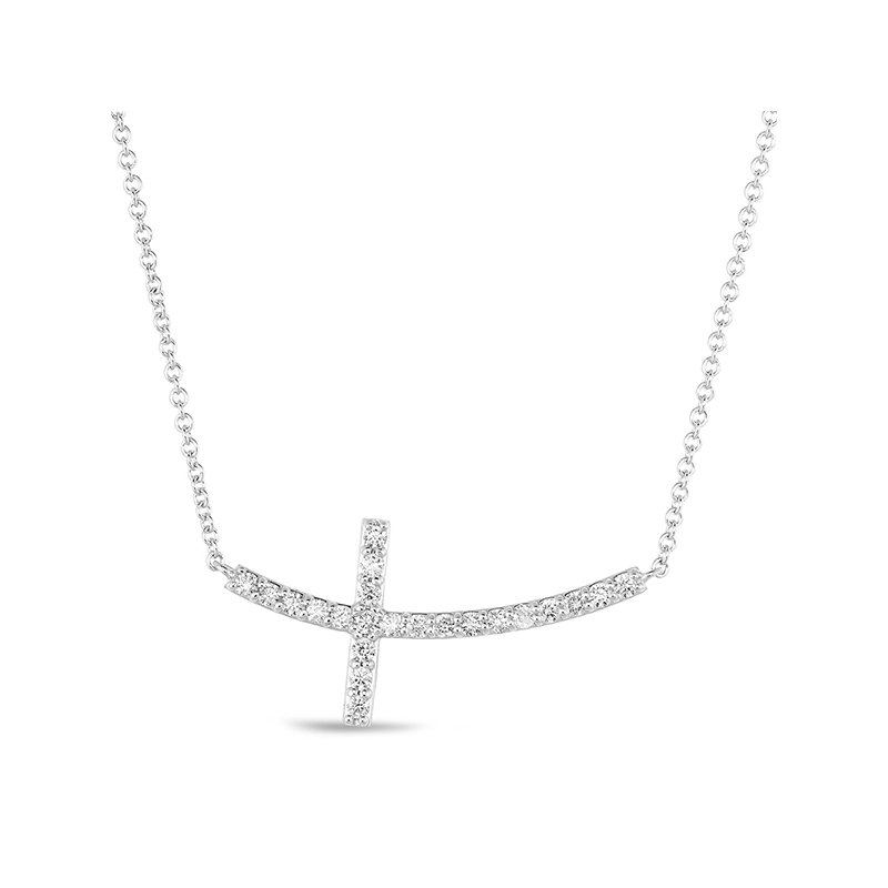 S. Kashi  & Sons White Gold Cross Necklace