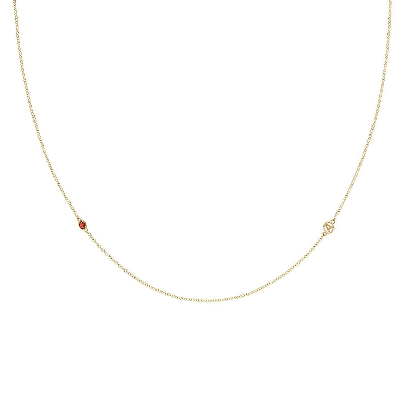 Tacori Fashion The Gemstone & Monogram Necklace w/ Garnet