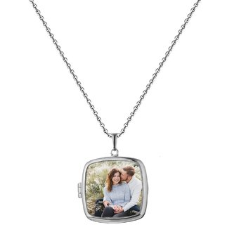Katie Glass Locket Necklace