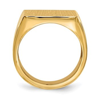 14k 17.5x16.5mm Open Back Mens Signet Ring
