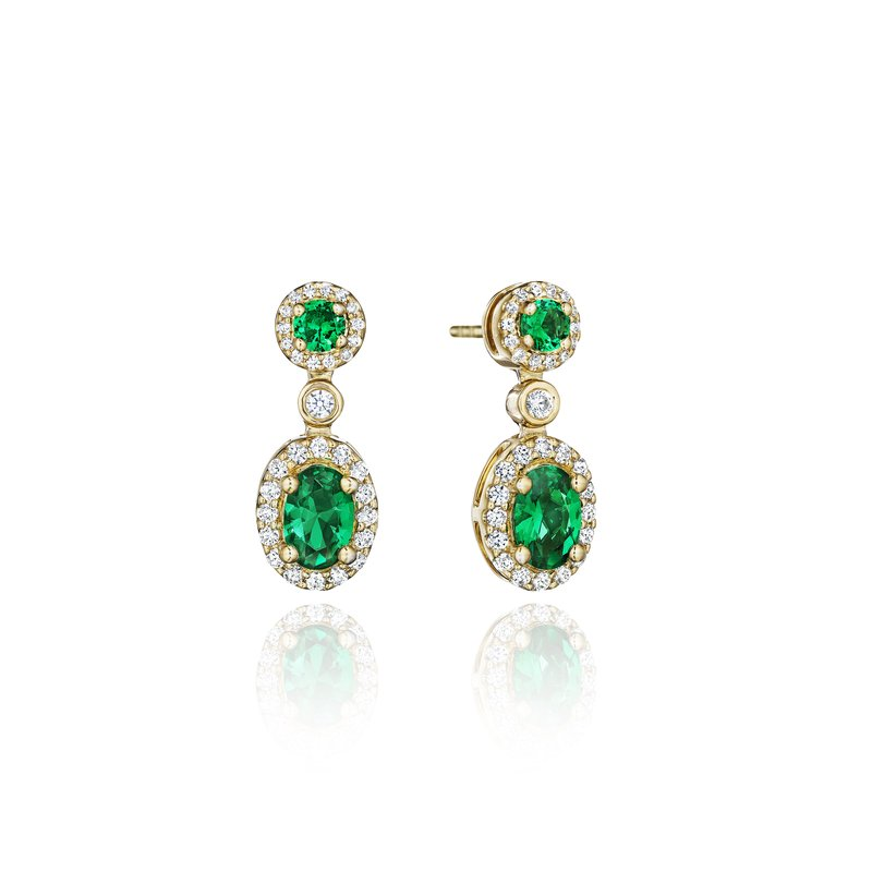 Fana Set the Scene Emerald and Diamond Dangle Earrings
