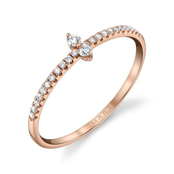 MARS 27268 Stackable Ring, 0.13 Ctw.