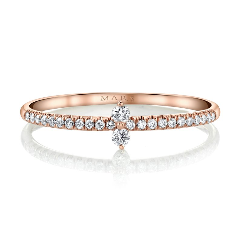 MARS Jewelry MARS 27268 Stackable Ring, 0.13 Ctw.