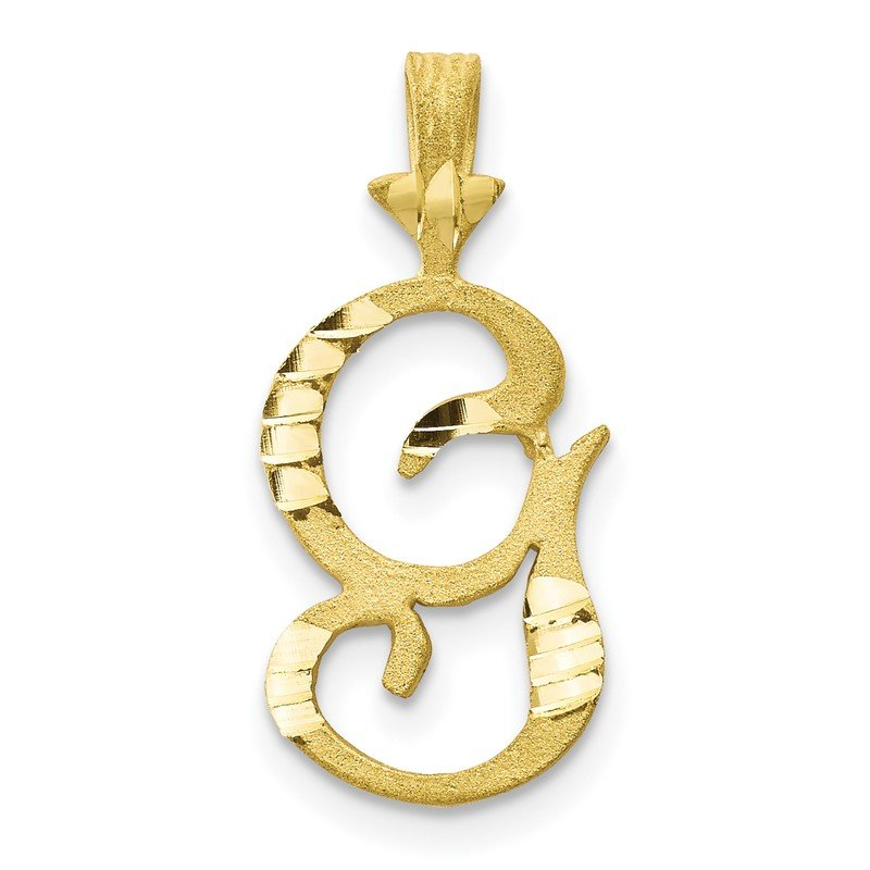 Quality Gold 10k Initial G Pendant