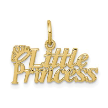 10k LITTLE PRINCESS with Crown Charm