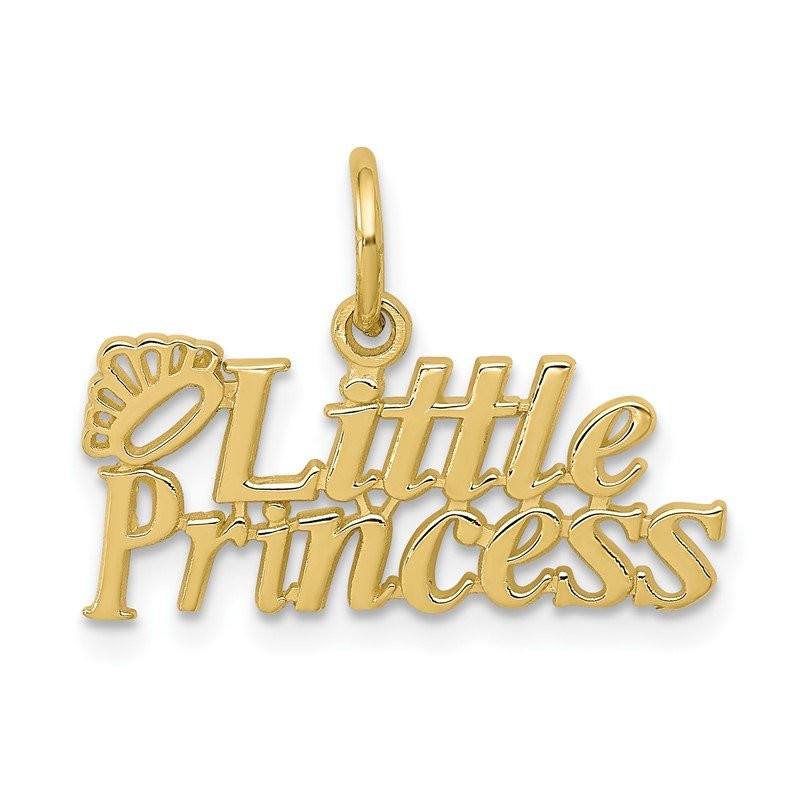 Quality Gold 10k LITTLE PRINCESS with Crown Charm